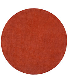 Surya Mystique M-332 Burnt Orange 6' Round Area Rug