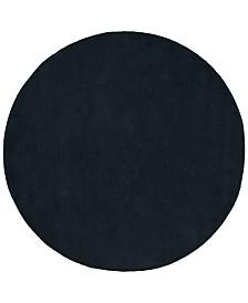 Surya Mystique M-340 Charcoal 8' Round Area Rug