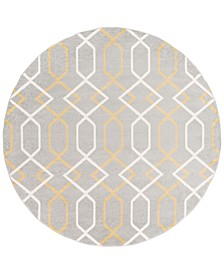 "Horizon HRZ-1043 Medium Gray 7'10"" Round Area Rug"