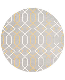 "Surya Horizon HRZ-1043 Medium Gray 7'10"" Round Area Rug"