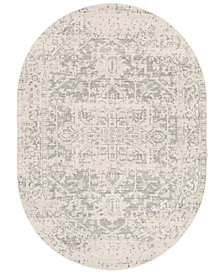"Surya Harput HAP-102 Gray 6'7"" x 9' Oval Area Rug"
