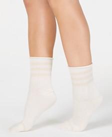 Lemon Noble Ribbed Crew Socks