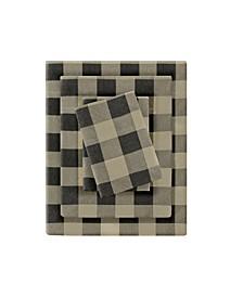 Flannel King Cotton Sheet Set