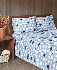 Cotton Flannel 4-Piece California King Sheet Set