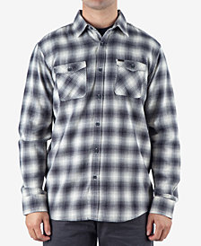 Rip Curl Men's Draco Regular-Fit Ombré Plaid Flannel Shirt
