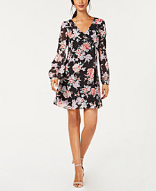 I.N.C. Floral Bow-Back Dress, Created for Macy's