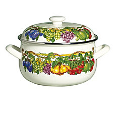 Kensington Garden Porcelain Enamel 5 Qt Covered Casserole