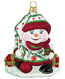 Joy To The World Glitterazzi Cardinal Snowman