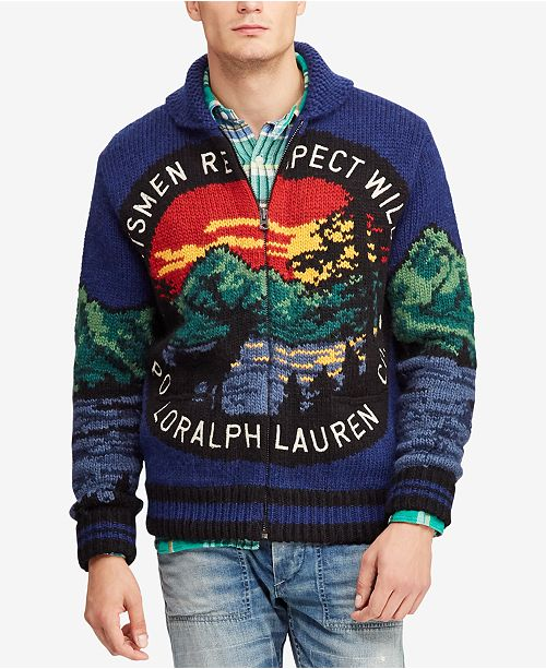 21dbefab202e2 ... Polo Ralph Lauren Men s Great Outdoors Intarsia Full-Zip Cardigan ...