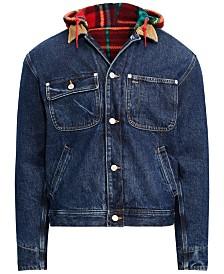 5115511a76 Polo Ralph Lauren Men s Great Outdoors Hooded Denim Trucker Jacket