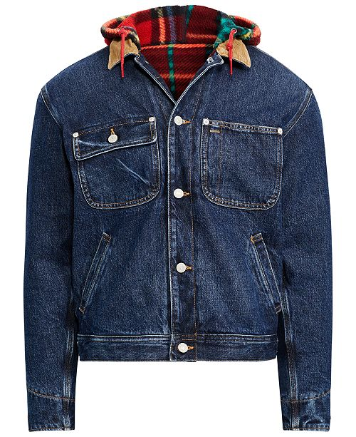 f0843641f4d8 ... Polo Ralph Lauren Men s Great Outdoors Hooded Denim Trucker Jacket ...