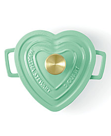 Martha Stewart Collection Enameled Cast Iron 2-Qt. Heart-Shaped Casserole, Created for Macy's