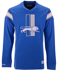 Mitchell & Ness Men's Detroit Lions Team Captain V-Neck Long Sleeve T-Shirt