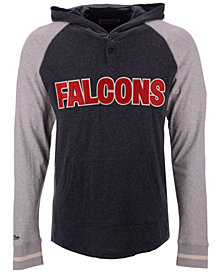 Mitchell & Ness Men's Atlanta Falcons Slugfest Lightweight Hooded Long Sleeve T-Shirt