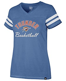 Women's Oklahoma City Thunder Metallic Dinger V-Neck T-Shirt