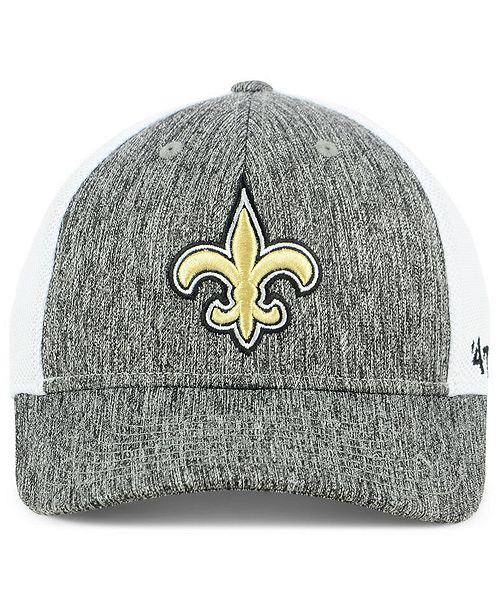 f5cd8296761ca ...  47 Brand New Orleans Saints Hazy Flex CONTENDER Stretch Fitted Cap     ...