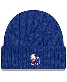 New Era Philadelphia 76ers Metal Cuffed Knit Hat