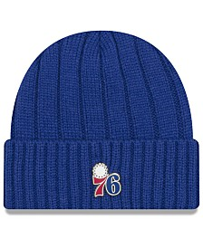 New Era Philadelphia 76ers Metal Cuffed Knit Hat