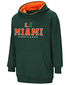 Colosseum Miami Hurricanes Pullover Hooded Sweatshirt, Big Boys (8-20)