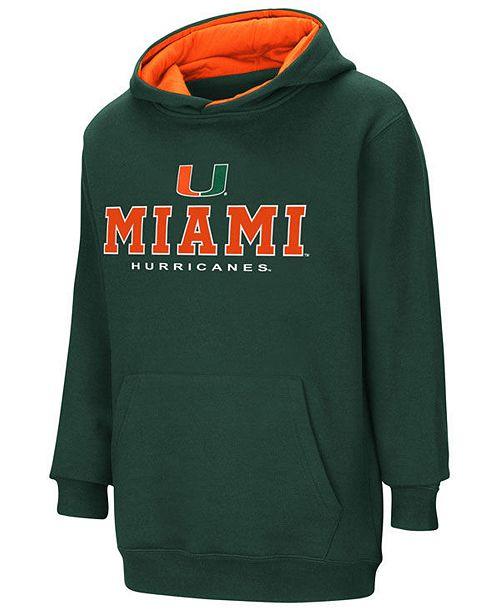 Colosseum Miami Hurricanes Pullover Hooded Sweatshirt, Big Boys (8-20)