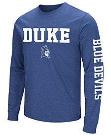 Colosseum Men's Duke Blue Devils Midsize Slogan Long Sleeve T-Shirt