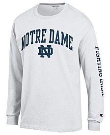 Colosseum Men's Notre Dame Fighting Irish Midsize Slogan Long Sleeve T-Shirt