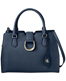 Lauren Ralph Lauren Kenton Leather Satchel, Created for Macy's