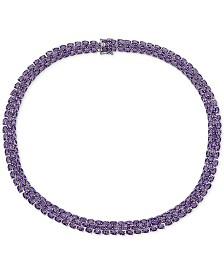 Amethyst (20 ct. t.w.) Statement Necklace in Sterling Silver
