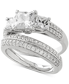 2-Pc. Cubic Zirconia Ring Set in Sterling Silver