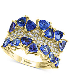 EFFY® Tanzanite (3 ct. t.w.) & Diamond (3/8 ct. t.w.) Ring in 14k Gold