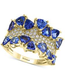 EFFY® Tanzanite (3 ct. t.w.) & Diamond (3/8 ct. t.w.) Ring in 14k Gold