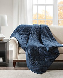 Deluxe 18lb Quilted Cotton Weighted Blanket