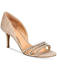 e1a676f25515c Jewel Badgley Mischka Caroline Embellished Ankle-Strap Evening ...