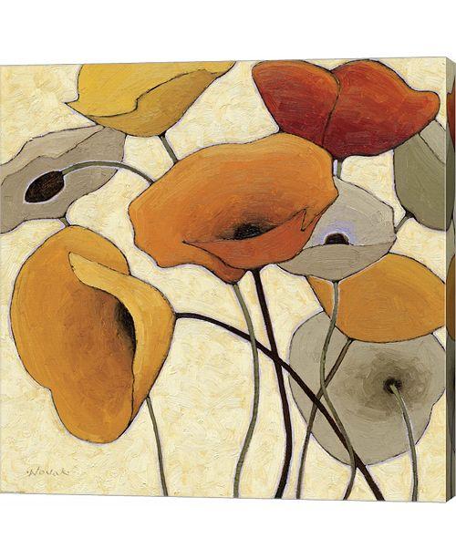 Metaverse Pumpkin Poppies III by Shirley Novak Canvas Art
