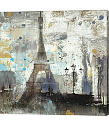 Eiffel Tower Neutral by Albena Hristova Canvas Art
