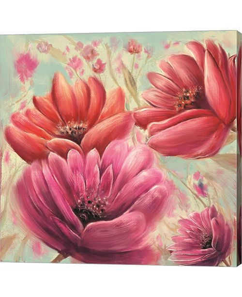 Metaverse Pink Poppy Bloom by Anthony Christou Canvas Art