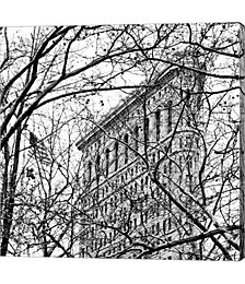 Veiled Flatiron Building, Black and White, Detail by Erin Clark Canvas Art