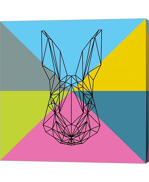 Metaverse Party Rabbit by Lisa Kroll Canvas Art