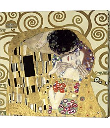 The Kiss, Detail by Gustav Klimt Canvas Art