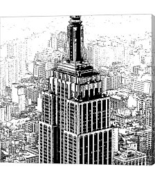 Empire State Sketch by Shelley Lake Canvas Art
