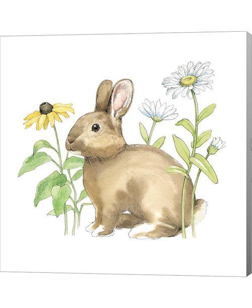 Metaverse Wildflower Bunnies II Sq by Beth Grove Canvas Art