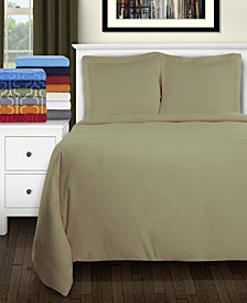 Superior Flannel Cotton Duvet Cover Set - King/California King - White