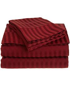 Superior Prestige 1500 Series Stripe Sheet Set - California King - White