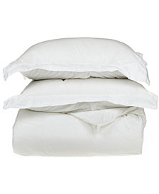 Superior 1500 Thread Count Egyptian Cotton Solid Duvet Set - King/California King - White