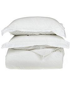 Superior 1500 Thread Count Egyptian Cotton Solid Duvet Set - King/California King - White