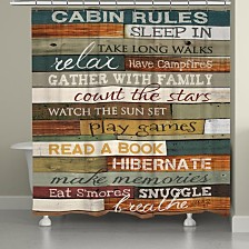 Laural Home Cabin Rules Bath Accessory Collection