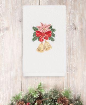 CLOSEOUT!  Christmas Bells 100% Turkish Cotton 2-Pc. Hand Towel Set
