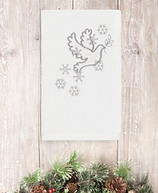 CLOSEOUT!  Christmas Dove 100% Turkish Cotton Hand Towels