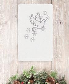 CLOSEOUT! Linum Home Christmas Dove 100% Turkish Cotton Hand Towels