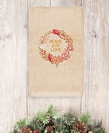 CLOSEOUT!  Christmas Peace 100% Turkish Cotton Hand Towel
